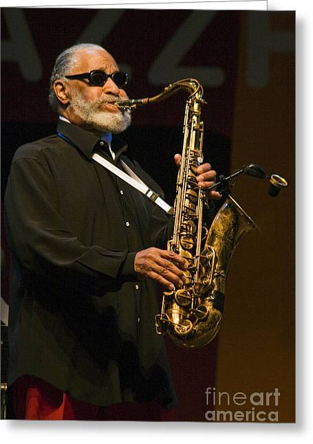 Craig Lovell Greeting Cards - Sonny Rollins Greeting Card by Craig Lovell