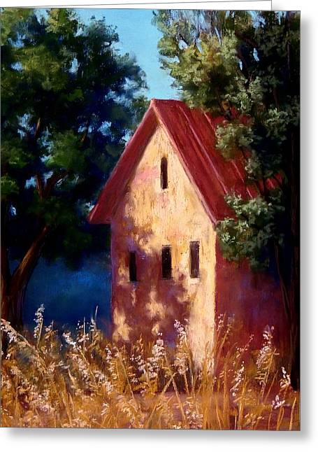 Sonoma Pastels Greeting Cards - Sonoma County Winery Greeting Card by Candice Ferguson