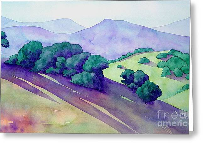 Napa Paintings Greeting Cards - Sonoma Hills Greeting Card by Robert Hooper