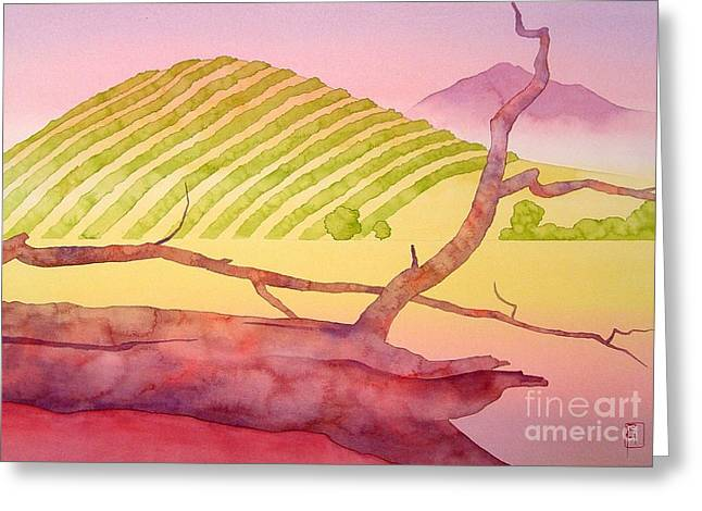 Napa Valley Vineyard Greeting Cards - Sonoma Greeting Card by Robert Hooper