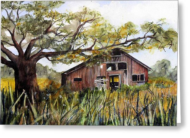 Sonoma County Paintings Greeting Cards - Sonoma Two -Summer Greeting Card by Pamela Shearer