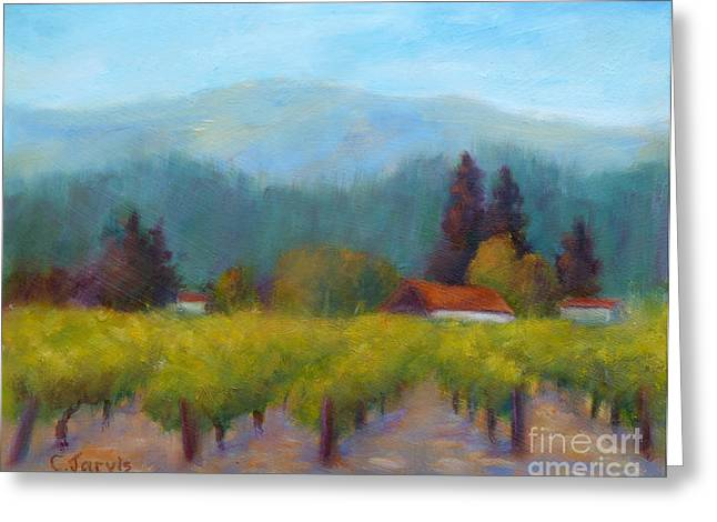 Recently Sold -  - Chateau Greeting Cards - Sonoma Valley View Greeting Card by Carolyn Jarvis