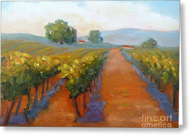 Sonoma County Greeting Cards - Sonoma Vineyard Greeting Card by Carolyn Jarvis