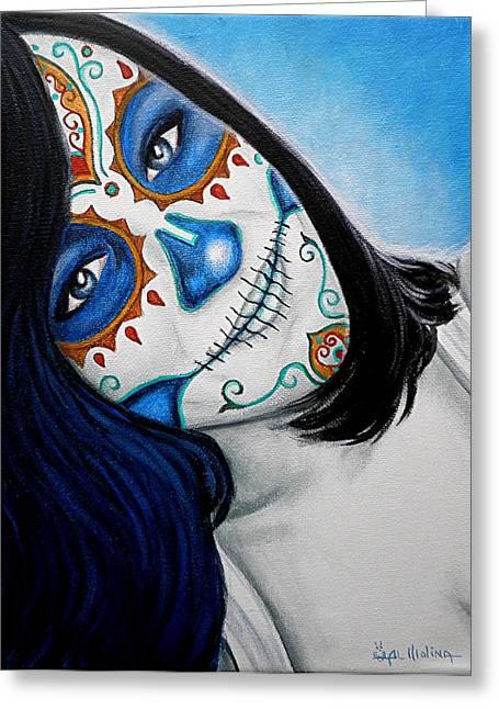 Sonrisa Azul Greeting Card by Al  Molina