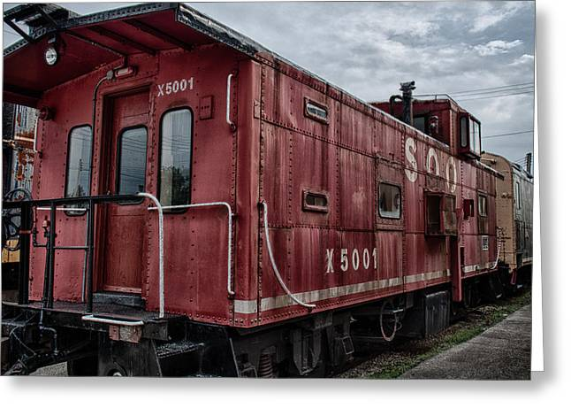 Train Yard Greeting Cards - Soo Caboos Greeting Card by Mike Burgquist