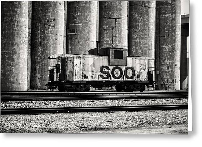 Caboose Greeting Cards - Soo Caboose Greeting Card by CJ Schmit