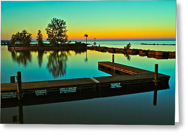 Visceral Greeting Cards - Soothing Sunset Greeting Card by Frozen in Time Fine Art Photography