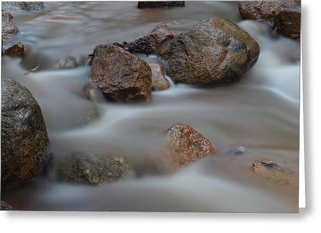 Water Flowing Greeting Cards - Soothing Waters 2 Greeting Card by Ernie Echols