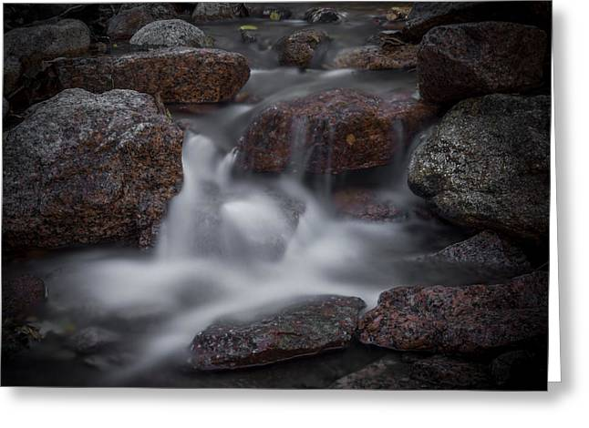 Water Flowing Greeting Cards - Soothing Waters 3 Greeting Card by Ernie Echols