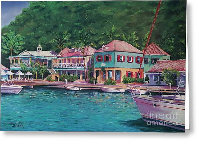 Caribbean Architecture Greeting Cards - Sopers Hole Tortola  16x23 Greeting Card by John Clark
