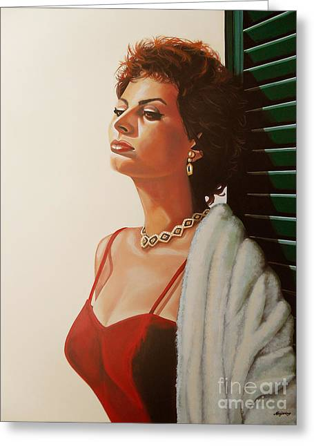 Italian Cinema Greeting Cards - Sophia Loren 2  Greeting Card by Paul  Meijering
