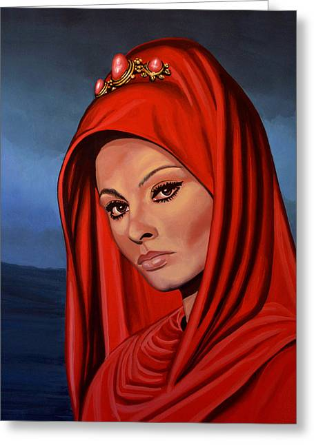 Sophia Loren Greeting Cards - Sophia Loren Greeting Card by Paul  Meijering