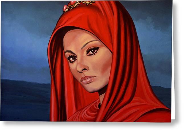 Sophia Loren Greeting Card by Paul  Meijering