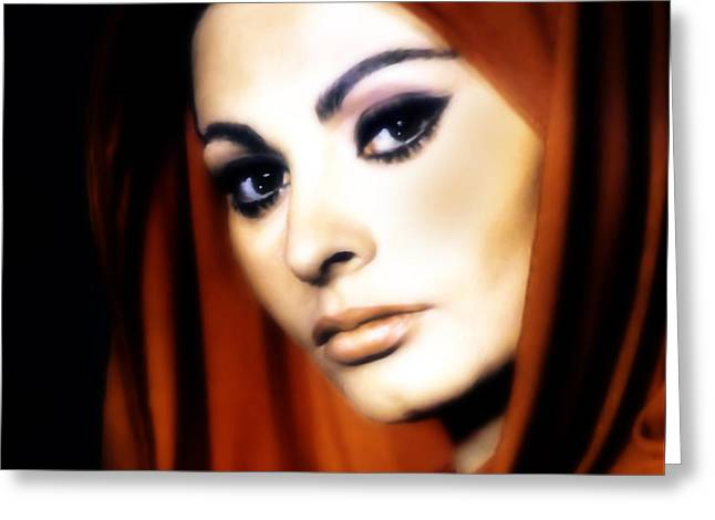 Sophia Loren Greeting Card by Georgiana Romanovna