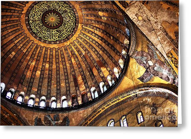 Hagia Sophia Greeting Cards - Sophia Wonders Greeting Card by John Rizzuto
