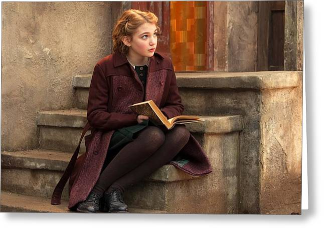 Sophie Greeting Cards - Sophie Nelisse The Book Thief Greeting Card by Movie Poster Prints