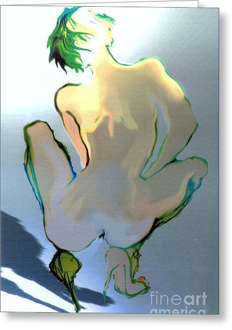 Sophi's Back Greeting Card by Carolyn Weltman