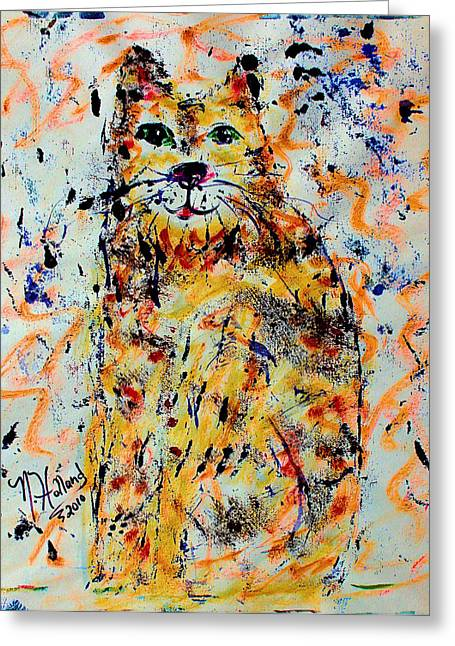 Natalie Holland Greeting Cards - Sophisticated Cat 3 Greeting Card by Natalie Holland