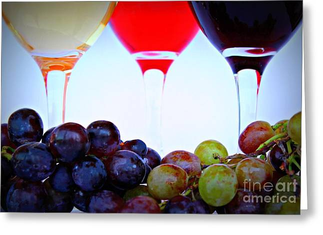 Pinot Digital Art Greeting Cards - Sophisticated Greeting Card by Clare Bevan