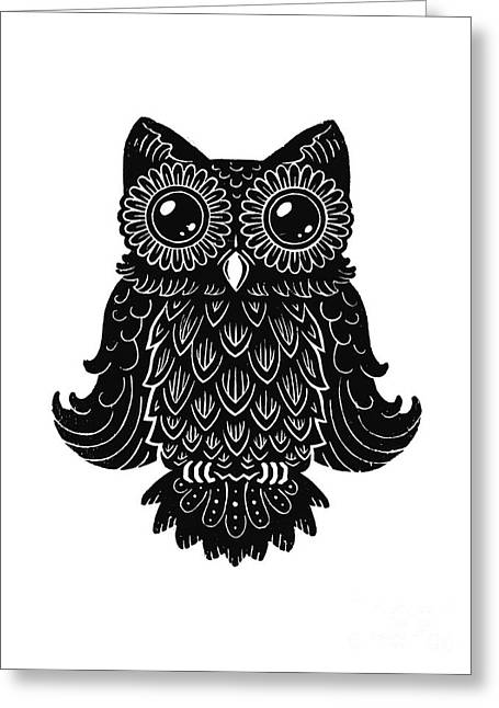 Kyle Mark Wood Greeting Cards - Sophisticated Owls 2 of 4 Greeting Card by Kyle Wood