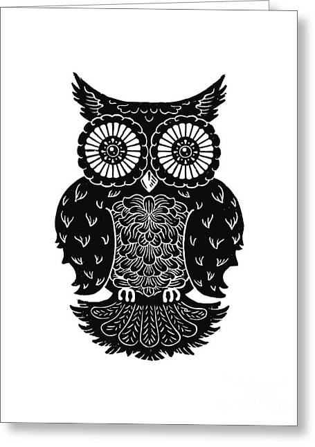 Kyle Mark Wood Greeting Cards - Sophisticated Owls 3 of 4 Greeting Card by Kyle Wood