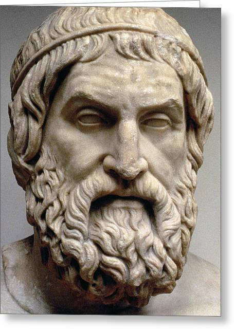Marble Sculptures Greeting Cards - Sophocles Greeting Card by Greek School