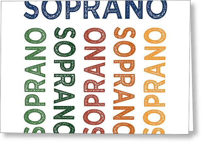 Soprano Cute Colorful Greeting Card by Flo Karp