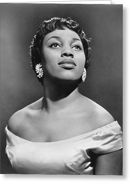 Soprano Leontyne Price Greeting Card by Underwood Archives