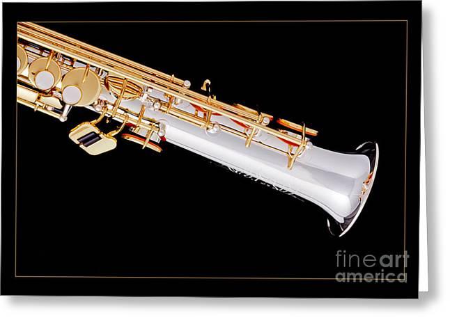 Saxophone Photographs Greeting Cards - Soprano Saxophone Bell Photograph in Color 3343.02 Greeting Card by M K  Miller