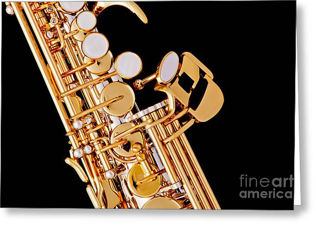 Soprano Greeting Cards - Soprano Saxophone Photograph Picture Color 3354.01 Greeting Card by M K  Miller