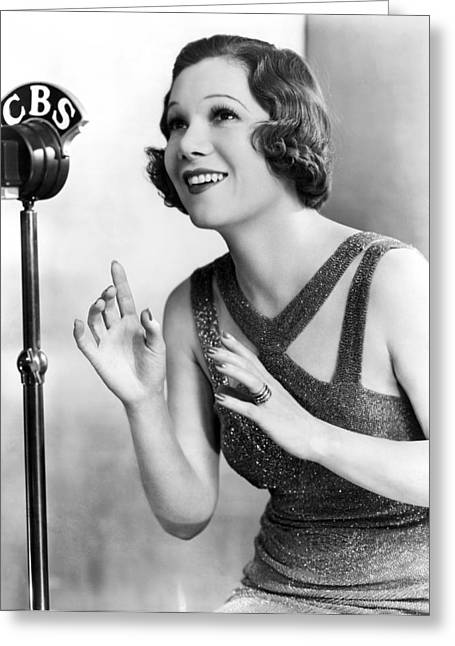 Soprano Vivienne Segal On Cbs Greeting Card by Underwood Archives