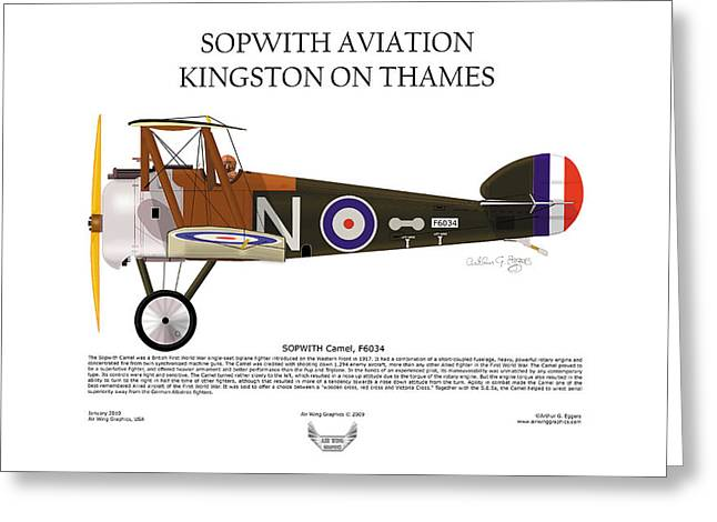 Steve Eggers Greeting Cards - Sopwith Aviation Camel Greeting Card by Arthur Eggers