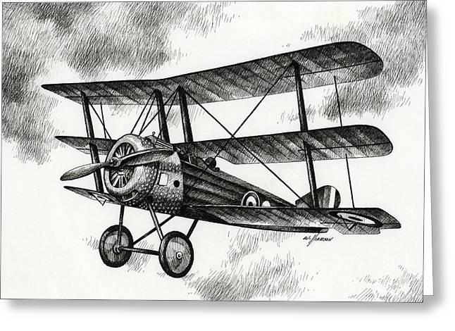 Aircraft Artist Greeting Cards - Sopwith Triplane 1917 Greeting Card by James Williamson