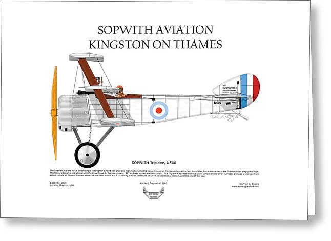 Steve Eggers Greeting Cards - Sopwith Triplane Greeting Card by Arthur Eggers