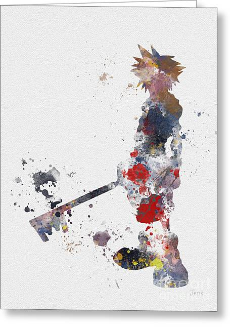 Destiny Mixed Media Greeting Cards - Sora Greeting Card by Rebecca Jenkins