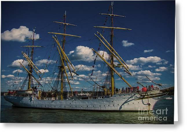Sailing Ship Greeting Cards - Sorlandet 4 Greeting Card by Kathryn Strick