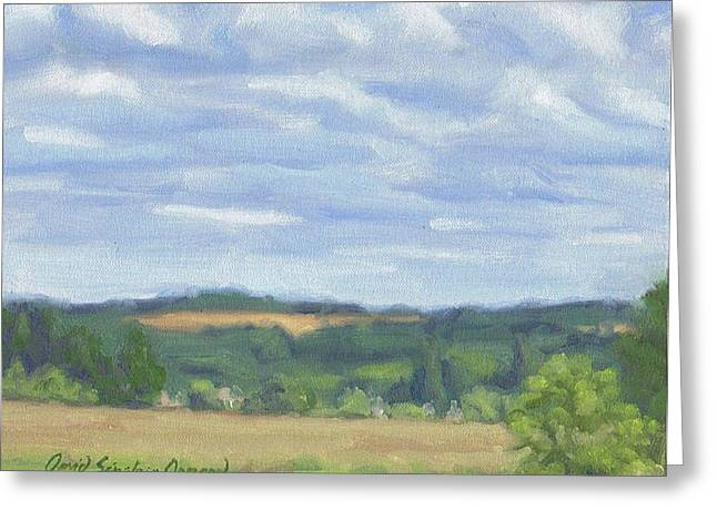 Paysage A L Greeting Cards - Sorques from far - Sorques de loin Greeting Card by David Ormond