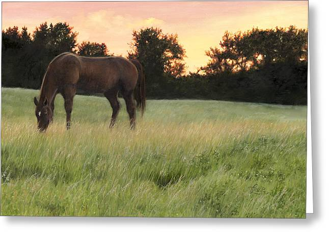 Quarter Horses Paintings Greeting Cards - Sorrel Beauty Greeting Card by Tammy  Taylor