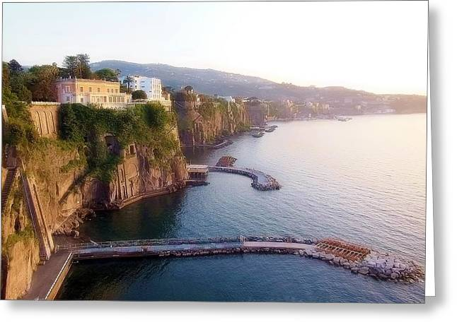 Naples Greeting Cards - Sorrento Coast Greeting Card by Marilyn Dunlap