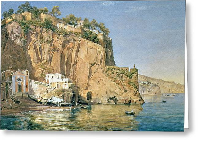 Italian Landscapes Greeting Cards - Sorrento Greeting Card by Emanuel Stockler