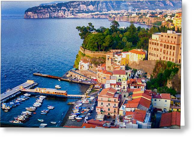 Berghoff Greeting Cards - Sorrento Harbor - Italy Greeting Card by Jon Berghoff