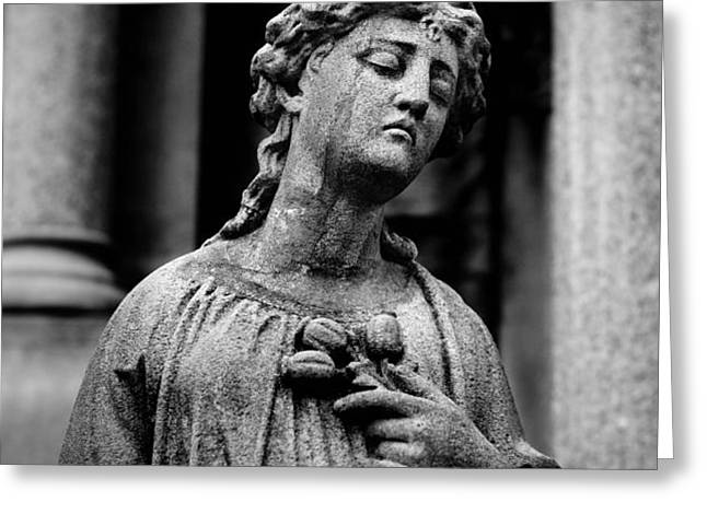 Sorrow Allegheny Cemetery Pittsburgh  Greeting Card by Amy Cicconi