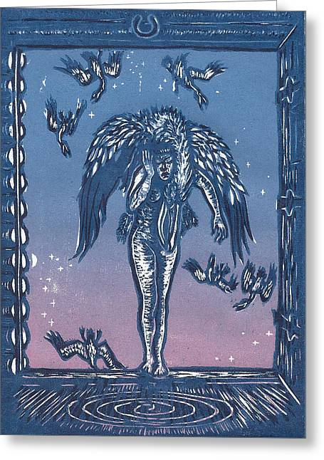 Sorrow Greeting Card by Dawn Senior-Trask