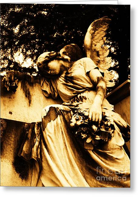 Floral Photographs Sculptures Greeting Cards - Sorrow In Stone II Greeting Card by Nathan Little