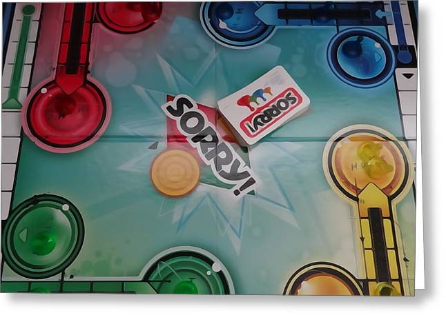 Board Game Greeting Cards - Sorry Board Game Greeting Card by Dan Sproul