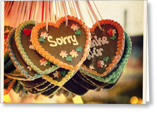 Sorry gingerbread Greeting Card by Jane Rix