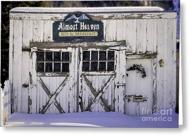 Old West Postcards Greeting Cards - Sorry We Are Closed Greeting Card by Janice Rae Pariza