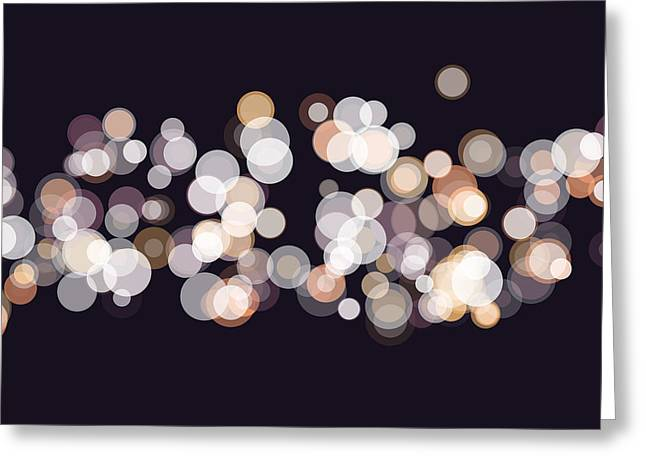 Soul Bokeh Circle Pattern Horizontal Greeting Card by Frank Ramspott