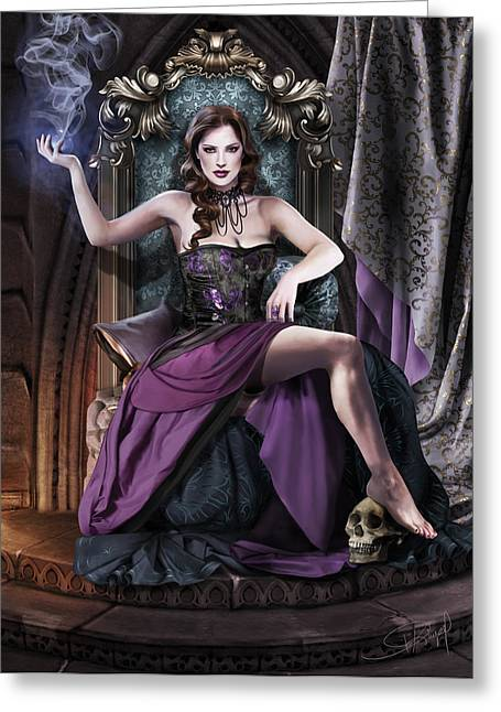 Souls Greeting Cards - Soul Collector Greeting Card by Drazenka Kimpel