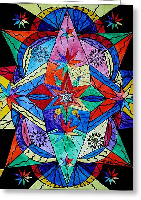 Sacred Paintings Greeting Cards - Soul Family  Greeting Card by Teal Eye  Print Store